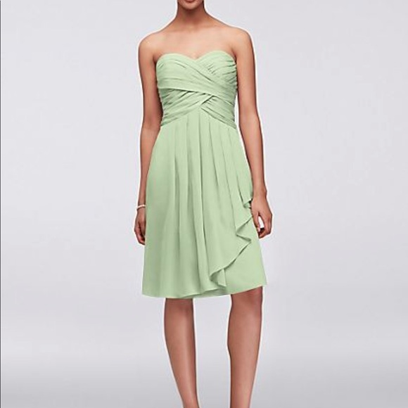 Short Meadow Green Bridesmaid Dress | Plus Size
